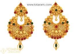 chandbali earrings chandbali earrings temple jewellery 22k gold drop earrings