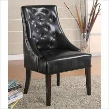 Black Leather Accent Chair Buy Coaster Bonded Leather Accent Chair Black In Cheap Price On