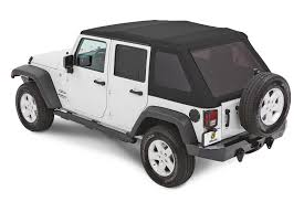 white jeep 4 door bestop 54923 17 trektop nx glide twill softop for 07 18 jeep