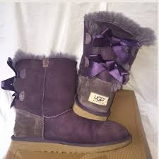 ugg bailey bow navy blue sale 68 ugg other humpday sale purple bailey bow uggs from