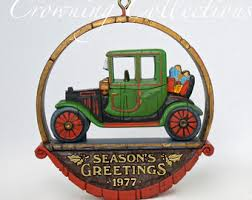 antique car ornament etsy