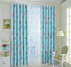 owl bedroom curtains mordern cartoon owl window blankout sheer curtains for kids boys