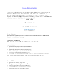 examples of a good resume for a job cbshow co 099 job resume