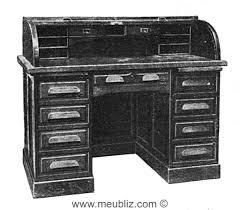 bureau americain cylindre bureau américain à rideau meuble classique