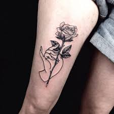 rose tattoo on thigh u2026 tattoos pinterest rose tattoos