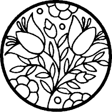 spring coloring pages adults