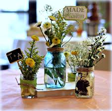 used wedding centerpieces in the jars with lights in them are used elsewhere in