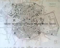 Madrid Map 5 178 Madrid Street Map By S D U K C 1844 Brighton Antique Maps