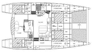 Catamaran Floor Plans Waller 1480 48 5 Ft Cedar Strip Glass Cruising Catamaran