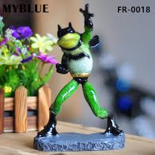 Home Sculpture Decor Aliexpress Com Buy Myblue Kawaii Animal Artificial Batman Frogs