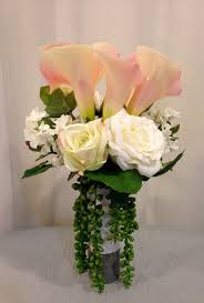 calla lily home decor calla lily rose and succulent plant arrangement in ceramic vase
