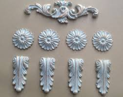 decorative mouldings mixed lot of nine resin shabby chic