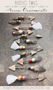 handmade ornaments rustic twig arrows diy