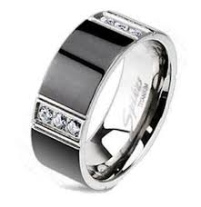 black gold mens wedding band mens stainless steel black gold titanium wedding rings edwin