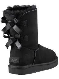 womens ugg boots bow ugg womens bailey bow ii boots in black