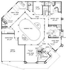 U Shaped House Plans With Pool In Middle House Plans With Enclosed Courtyard Home Plan 108 1370 Floor