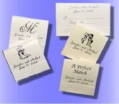matchbook wedding favors personalized wedding matchbooks wedding match books