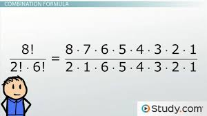 math combinations formula and example problems video u0026 lesson
