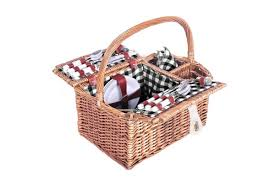 picnic basket set for 4 4 person picnic basket set with blanket black kogan