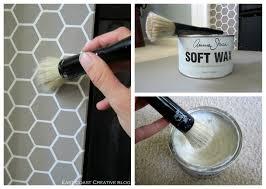 stenciled faux tile fireplace tutorial east coast creative blog
