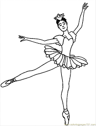ballerina coloring pages position alltoys