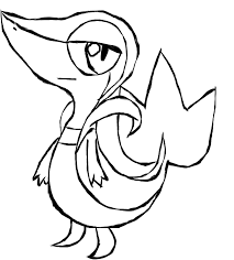 pokemon coloring pages of snivy snivy coloring pages pin pokemon snivy colouring pages pinterest