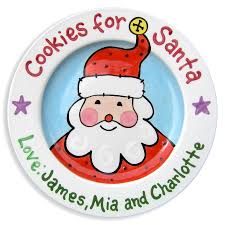 christmas plates personalized christmas plate cookies for santa personalized