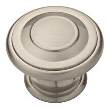 Brushed Nickel Knobs For Kitchen Cabinets Liberty 1 3 8 In Satin Nickel Harmon Cabinet Knob 10 Pack