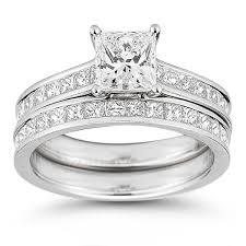 Princess Cut Wedding Ring by Princess Cut 3 10 Ctw Vs2 Clarity I Color Diamond Platinum