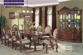 Raymour Flanigan Dining Room Sets Fa3005t Ashlyn Dark Cherry Solid Wood 9 Piece Elegant 7 Piece
