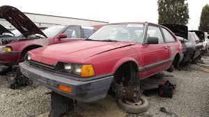 car junkyard portland junkyard find 1984 honda accord hatchback