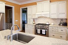 Traditional White Kitchen Images - white kitchen cabinets with granite stunning distressed cream