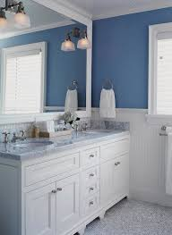 white bathrooms bathroom sconces white and blue bathroom
