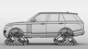 range rover drawing range rover crawler l405 2018 3d cgtrader