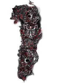 wolf tattoo sleeve tattoo sleeve designs for men tattoo ideas