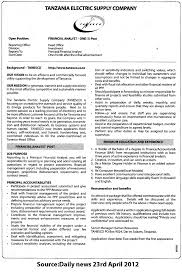 Sample Cover Letter Financial Analyst Financial Analyst Tayoa Employment Portal
