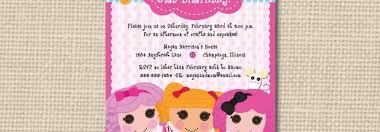 delightful printable lalaloopsy birthday party invitations