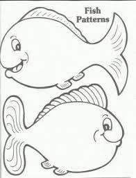 fish cut out template coloring page free download
