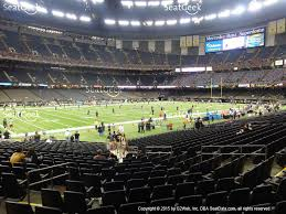 mercedes superdome mercedes superdome section 119 seat views seatgeek