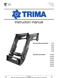 trima manual tractor loader equipment