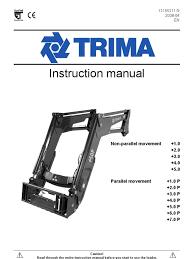 trima manual tractor loader equipment