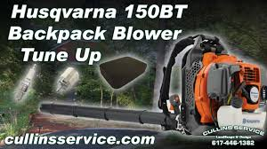 Tune Up Estimate by How To Diy Tune Up Backpack Leaf Blower 150bt Husqvarna By Cullins