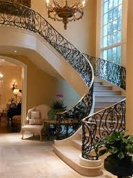 Foyer Stairs Design Staircase With Balcony In The Foyer Staircase Designs