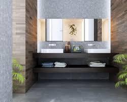 contemporary bathroom ideas grey wooden vanity storage polish