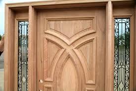 Exterior Wooden Door Wood Doors With Wrought Iron Glass Sidelights