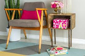 Wooden Crate Nightstand How To Build A Side Table Night Stand With Pictures Ehow