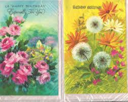 vintage cards vintage birthday cards etsy