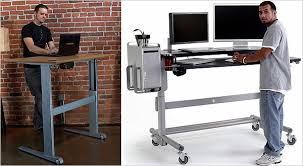 Standing To Sitting Desk Sit Stand Workstations Brian Fulton Registered Therapist