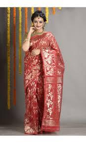 dhakai jamdani saree buy online peacock blue jpg pink jpg blue jpg dhakai jamdani saree