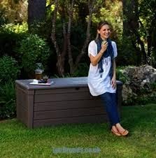 Garden Storage Bench Uk Keter Brightwood Wood Effect Garden Storage Bench Deck Box 455